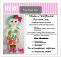 Mod doll pattern cover NEW